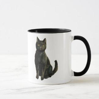 Mug Chat noir démodé de Halloween