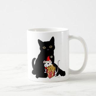 Mug Chat noir et Noël blanc de souris