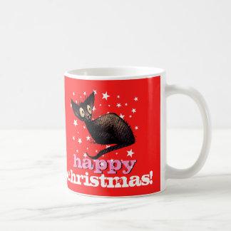 Mug Chat noir oriental de Noël heureux !