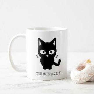 Mug Chat noir   vous n'êtes pas le patron de moi