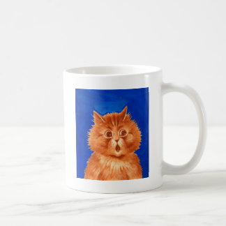 Mug Chat orange étonné par Louis Wain