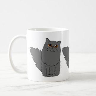 Mug Chat persan gris avec les yeux oranges