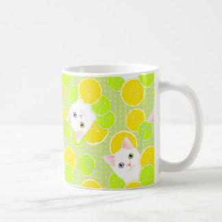 Mug Chat succulent de Kitty de limonade ensoleillé,