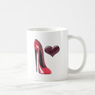 Mug Chaussure et coeur stylets rouges
