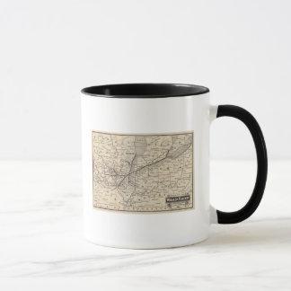 Mug Chemin de fer de Wabash de carte