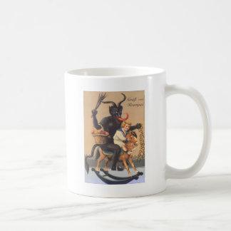 Mug Cheval de bois d'équitation de Krampus avec le