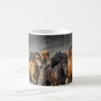 Mug Chevaux dans une pousse