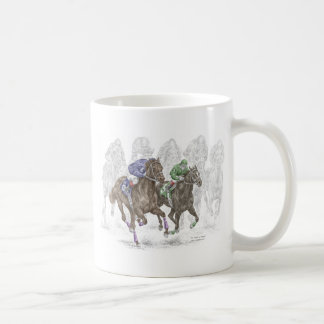 Mug Chevaux de course galopants