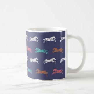 Mug Chevaux équestres classiques multicolores Girly