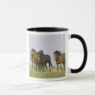 Mug Chevaux sauvages sauvages 3 de caballus d'Equus de