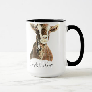 Mug Chèvre aimable d'humour vieille, animal, animal