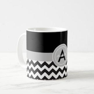Mug Chevron gris noir