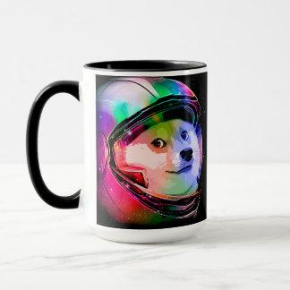Mug Chien astronaute-coloré de doge - chien de
