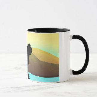 Mug Chien de PBGV par la mer