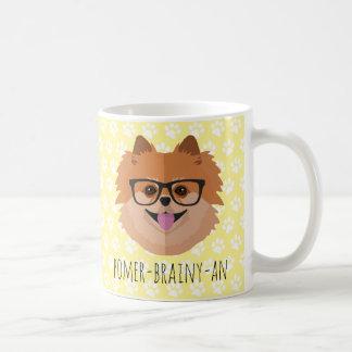 Mug Chien de Pomeranian en verres nerd |