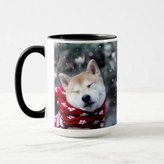 Mug Chien de Shiba - chien de doge - Joyeux Noël