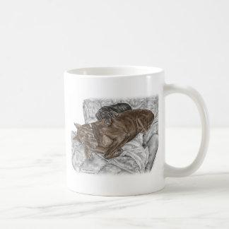 Mug Chien et chiot de dobermann