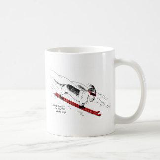 Mug Chien humoristique de ski