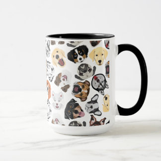 Mug Chiens de motif d'illustration