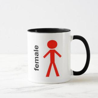 Mug Chiffre femelle de bâton