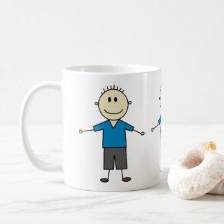 Mug Chiffre heureux adorable copie de bâton de garçons