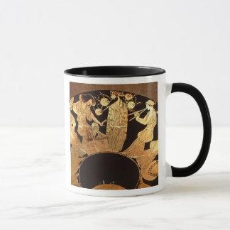 Mug Chiffre rouge kylix de grenier dépeignant Dionysus