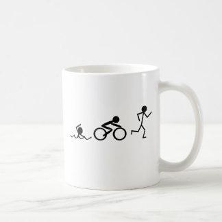 Mug Chiffres de bâton de triathlon
