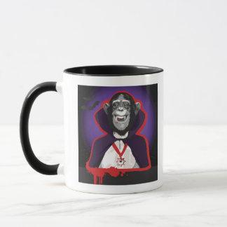 Mug Chimpanzé dans le costume de Dracula