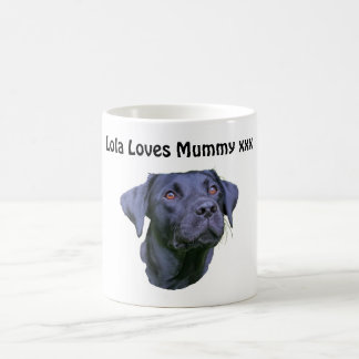 Mug Chiot noir de labrador retriever
