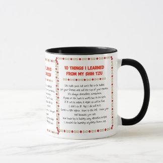 Mug Choses drôles I appris de mon Shih Tzu