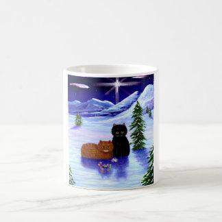 Mug Chrétien de souris de chat de vacances de Noël