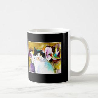 """Mug """"Christeve le chat avec la copie de colibri"""""""