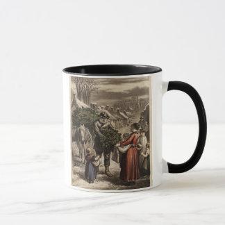 Mug Circa 1850 : Un Carter livrant le houx