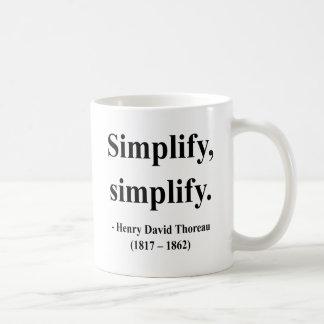 Mug Citation 1a de Thoreau
