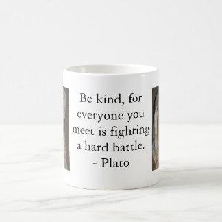 Mug Citation célèbre de Platon