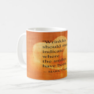 Mug Citation d'anniversaire de Mark Twain avec des