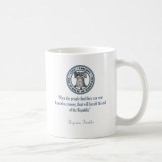 Mug Citation de Benjamin Franklin (argent)