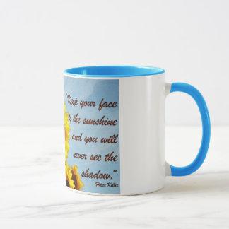 Mug Citation de Helen Keller avec le tournesol