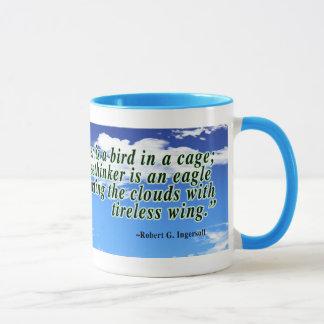 Mug Citation de libre penseur