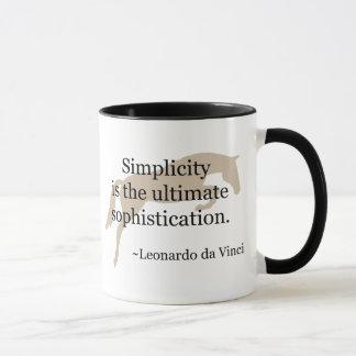 Mug Citation de simplicité avec le cheval de pullover