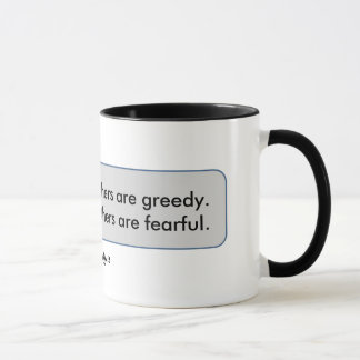Mug Citation de Warren Buffett craintive quand
