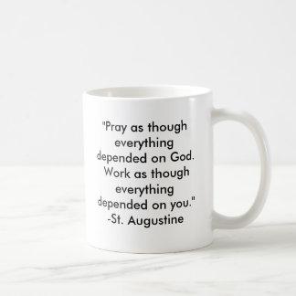 Mug Citation intemporelle de St Augustine :