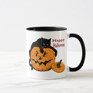 Mug Citrouille de chat noir