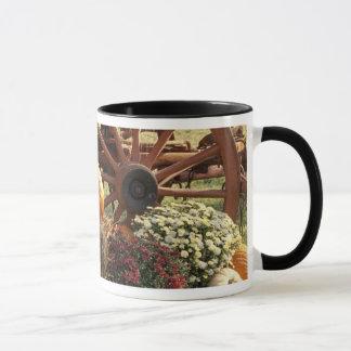 Mug Citrouilles d'automne et affichage de maman