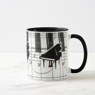 Mug Clavier et notes de piano à queue