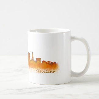 Mug Cleveland ville US skyline watercolor