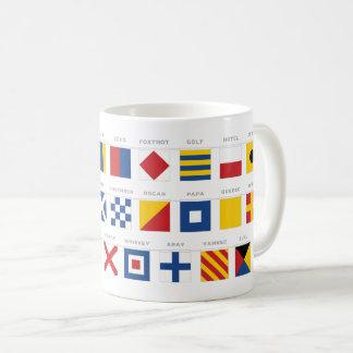 Mug Code international d'alphabet de signaux