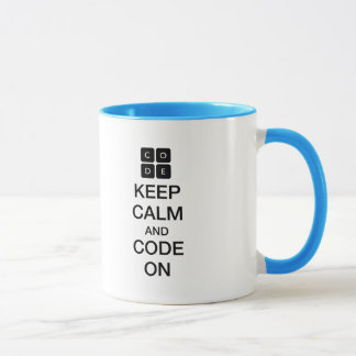 "Mug Code.org ""gardent le calme et le code sur """