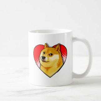 Mug Coeur d'amour de Meme de doge de personnaliser