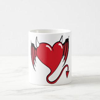 Mug coeur de diable rouge